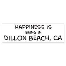 Dillon Beach - Happiness Bumper Bumper Sticker