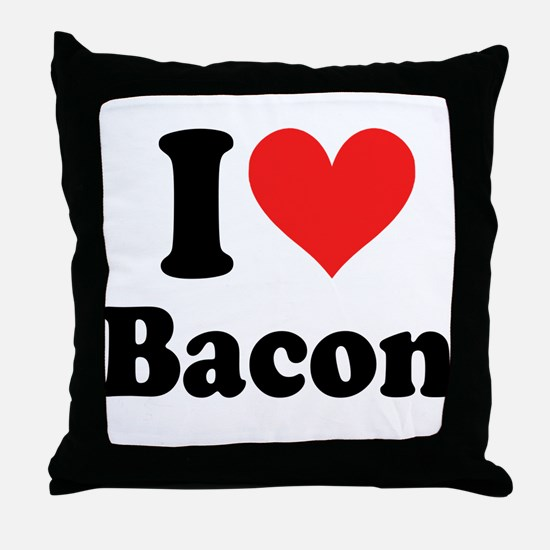 I Heart Bacon Throw Pillow