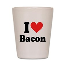 I Heart Bacon Shot Glass