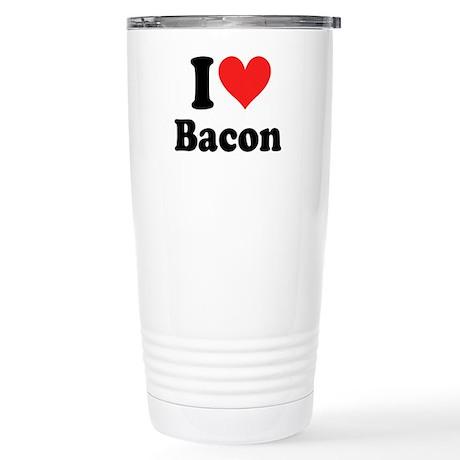 I Heart Bacon Stainless Steel Travel Mug