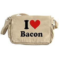 I Heart Bacon Messenger Bag