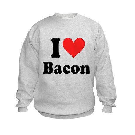 I Heart Bacon Kids Sweatshirt