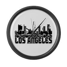 Los Angeles Skyline Large Wall Clock
