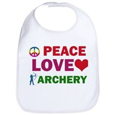 Peace Love Archery Designs Bib