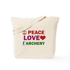 Peace Love Archery Designs Tote Bag