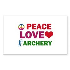 Peace Love Archery Designs Decal