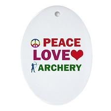 Peace Love Archery Designs Ornament (Oval)