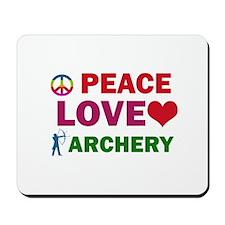 Peace Love Archery Designs Mousepad