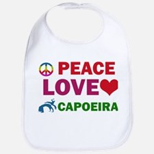 Peace Love Capoeira Designs Bib