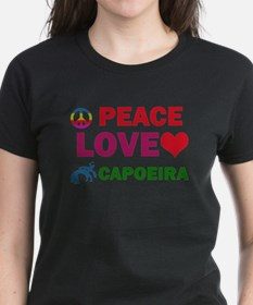 Peace Love Capoeira Designs Tee