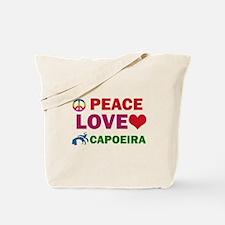 Peace Love Capoeira Designs Tote Bag