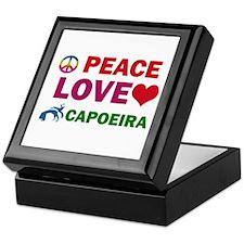 Peace Love Capoeira Designs Keepsake Box