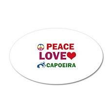 Peace Love Capoeira Designs Wall Decal