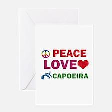 Peace Love Capoeira Designs Greeting Card