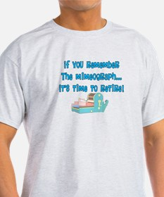 if you remember the mimeograph DARKS T-Shirt