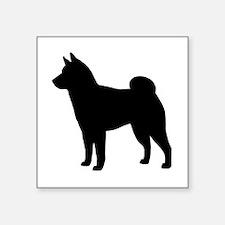 "Shiba Inu Square Sticker 3"" x 3"""