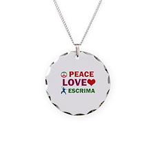 Peace Love Escrima Designs Necklace