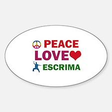 Peace Love Escrima Designs Decal