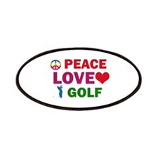 Peace Love Golf Designs Patches