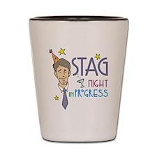 Stag Night in Progress Shot Glass
