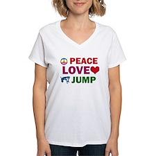 Peace Love Jump Designs Shirt