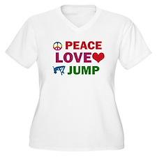Peace Love Jump Designs T-Shirt
