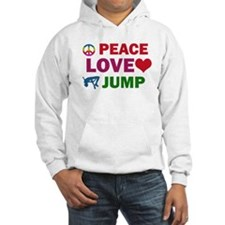 Peace Love Jump Designs Hoodie