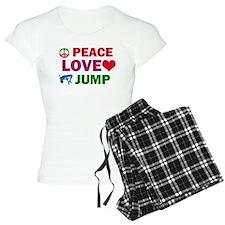 Peace Love Jump Designs Pajamas
