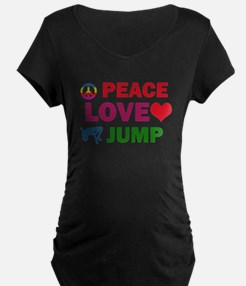Peace Love Jump Designs T-Shirt