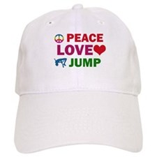 Peace Love Jump Designs Baseball Cap
