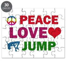Peace Love Jump Designs Puzzle