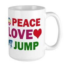 Peace Love Jump Designs Mug