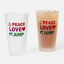 Peace Love Jump Designs Drinking Glass