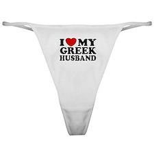 I love My Greek Husband Classic Thong