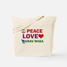 Peace Love Krav maga Designs Tote Bag