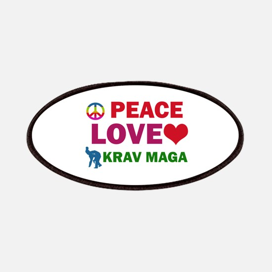 Peace Love Krav maga Designs Patches