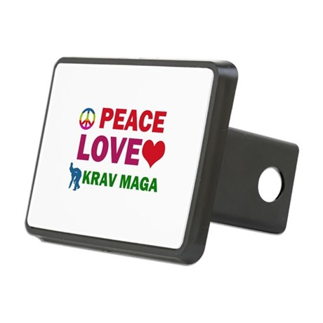 Peace Love Krav maga Designs Rectangular Hitch Cov