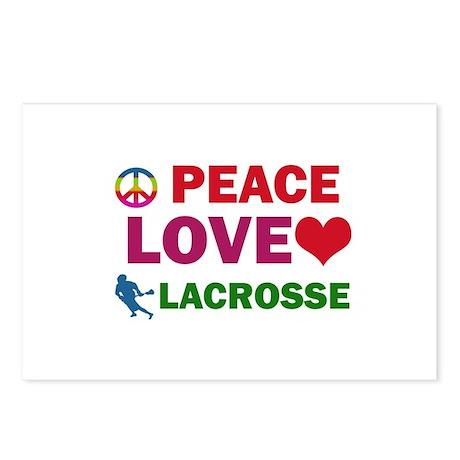 Peace Love Lacrosse Designs Postcards (Package of