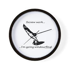 Screw Work, I'm Going Windsurfing Wall Clock
