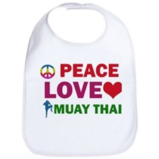 Peace Love Muay Thai Designs Bib