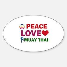Peace Love Muay Thai Designs Decal