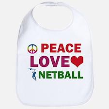 Peace Love Netball Designs Bib