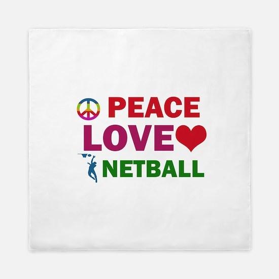 Peace Love Netball Designs Queen Duvet