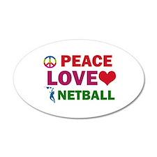Peace Love Netball Designs Decal Wall Sticker