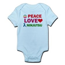 Peace Love Ninjutsu Designs Infant Bodysuit