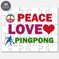Peace Love Pingpong Designs Puzzle