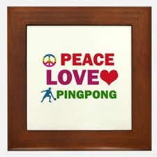 Peace Love Pingpong Designs Framed Tile