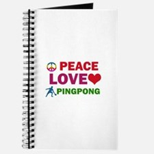 Peace Love Pingpong Designs Journal