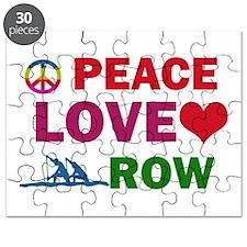 Peace Love Row Designs Puzzle