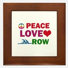 Peace Love Row Designs Framed Tile